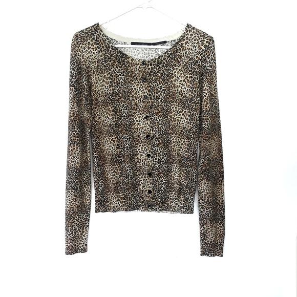 b59ae92c63f1 Guess by Marciano Sweaters | Leopard Print Cardigan | Poshmark